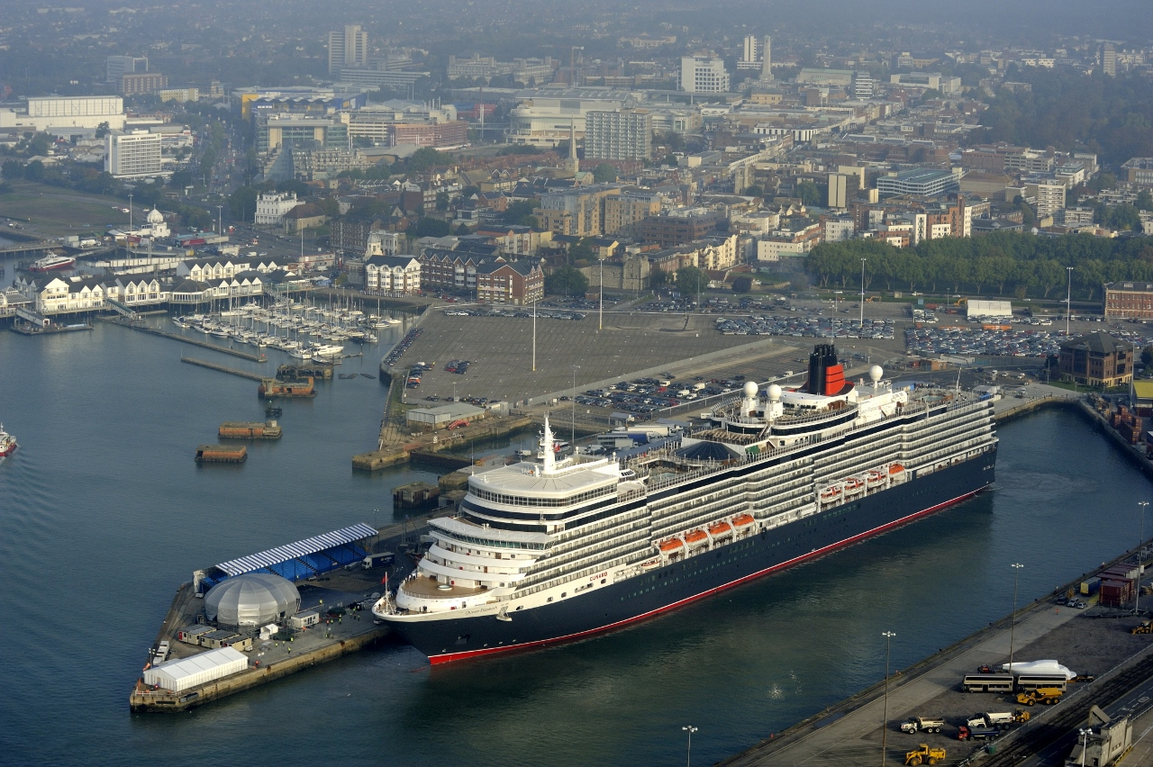 Southampton is the global base for the Cunard fleet and the port from which its World Cruises set sail each year.