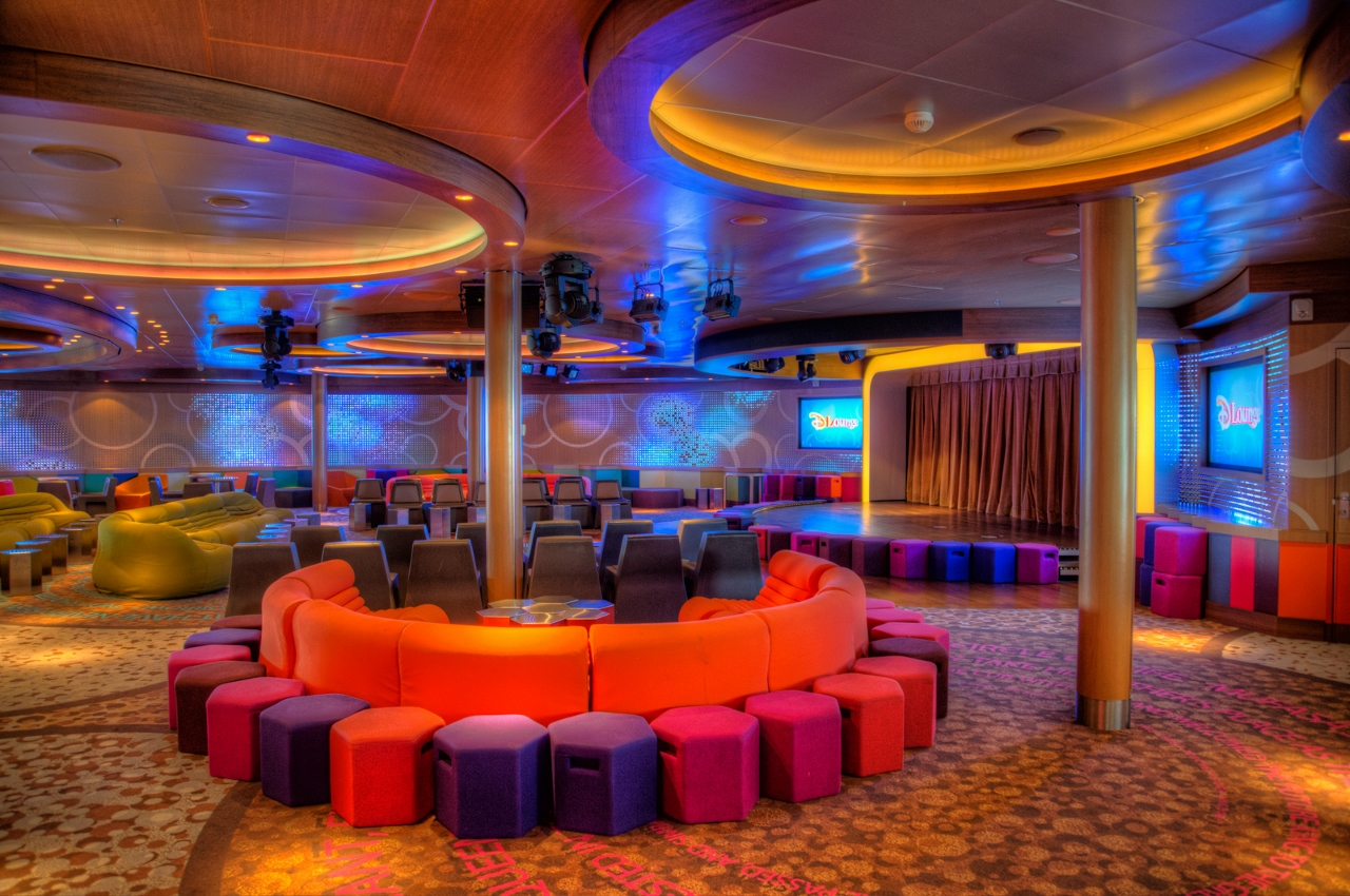 Disney Cruise Line's DLounge caters to parties for all ages.