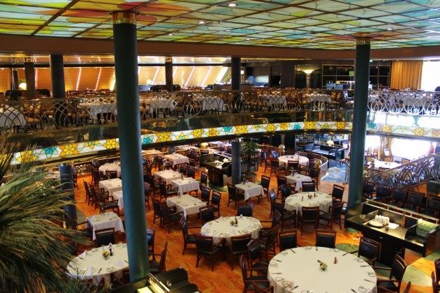 Holland America Line's main dining room is open to loyalty members on embarkation day.