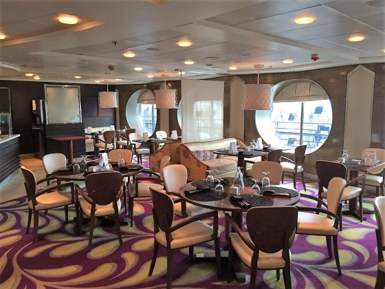 Bistro on Five on Celebrity Cruises features an open crepe kitchen.