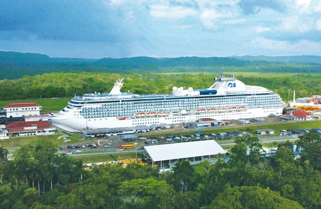 The Panama Canal is often traversed by cruise ships linking the East and West Coasts of the USA