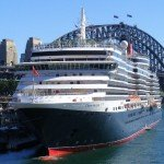 Cunard's Queen Victoria docks in Sydney Harbour