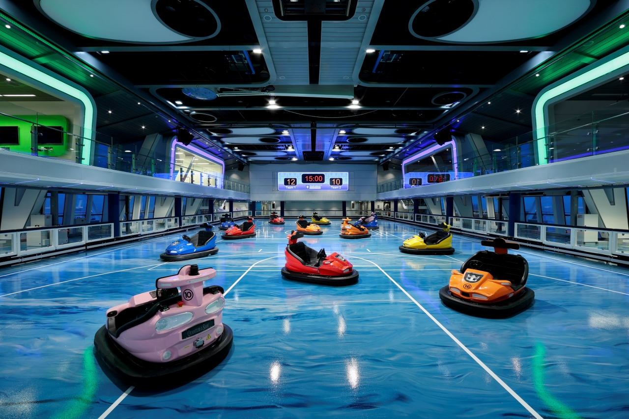 Ovation of the Seas will feature dodgem cars.