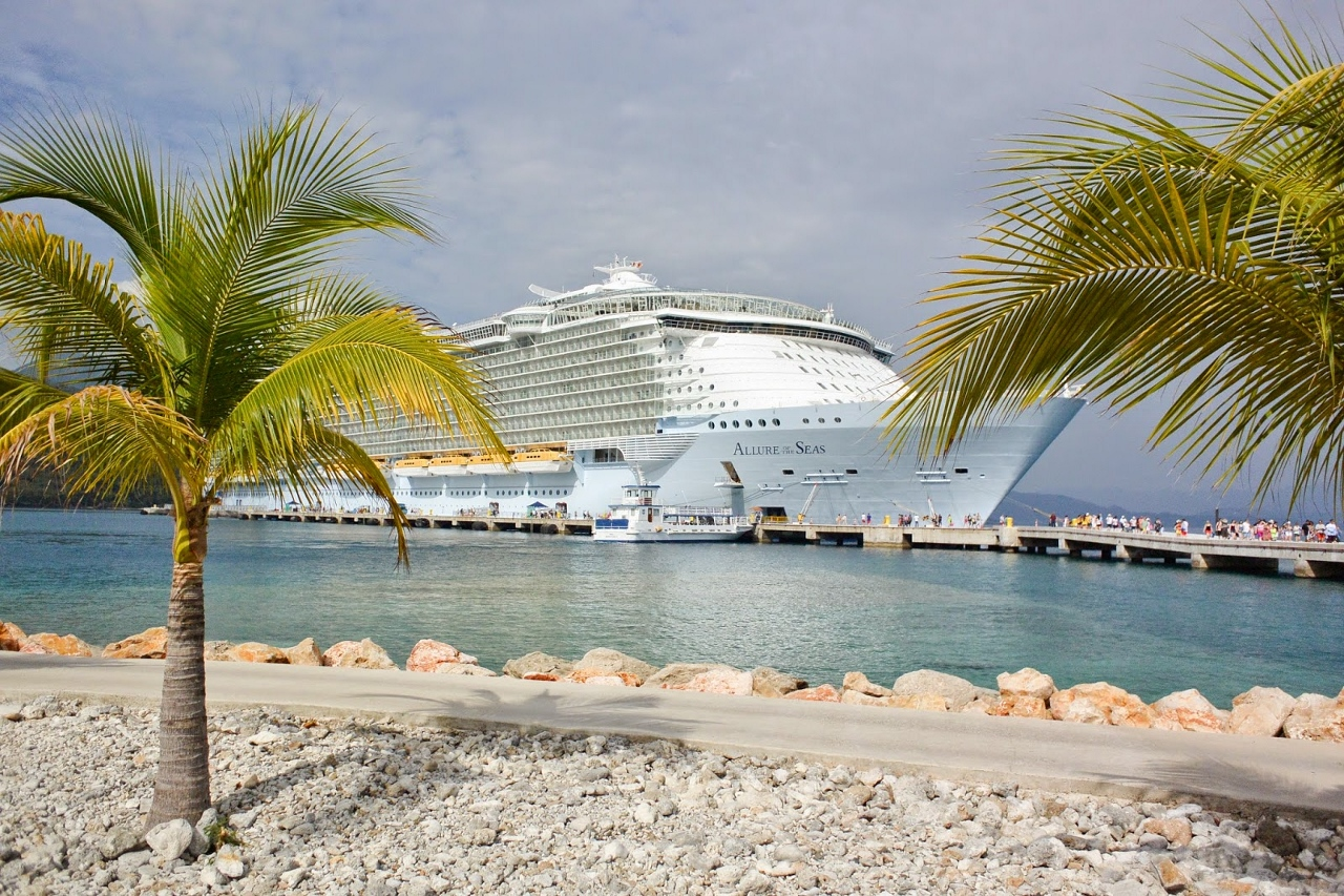 Allure of the Seas at its Caribbean island.