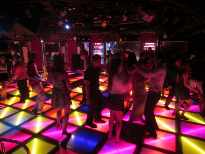 Revellers dance the night away on Carnival Glory.