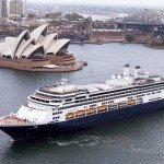MS Amsterdam sails out of Sydney