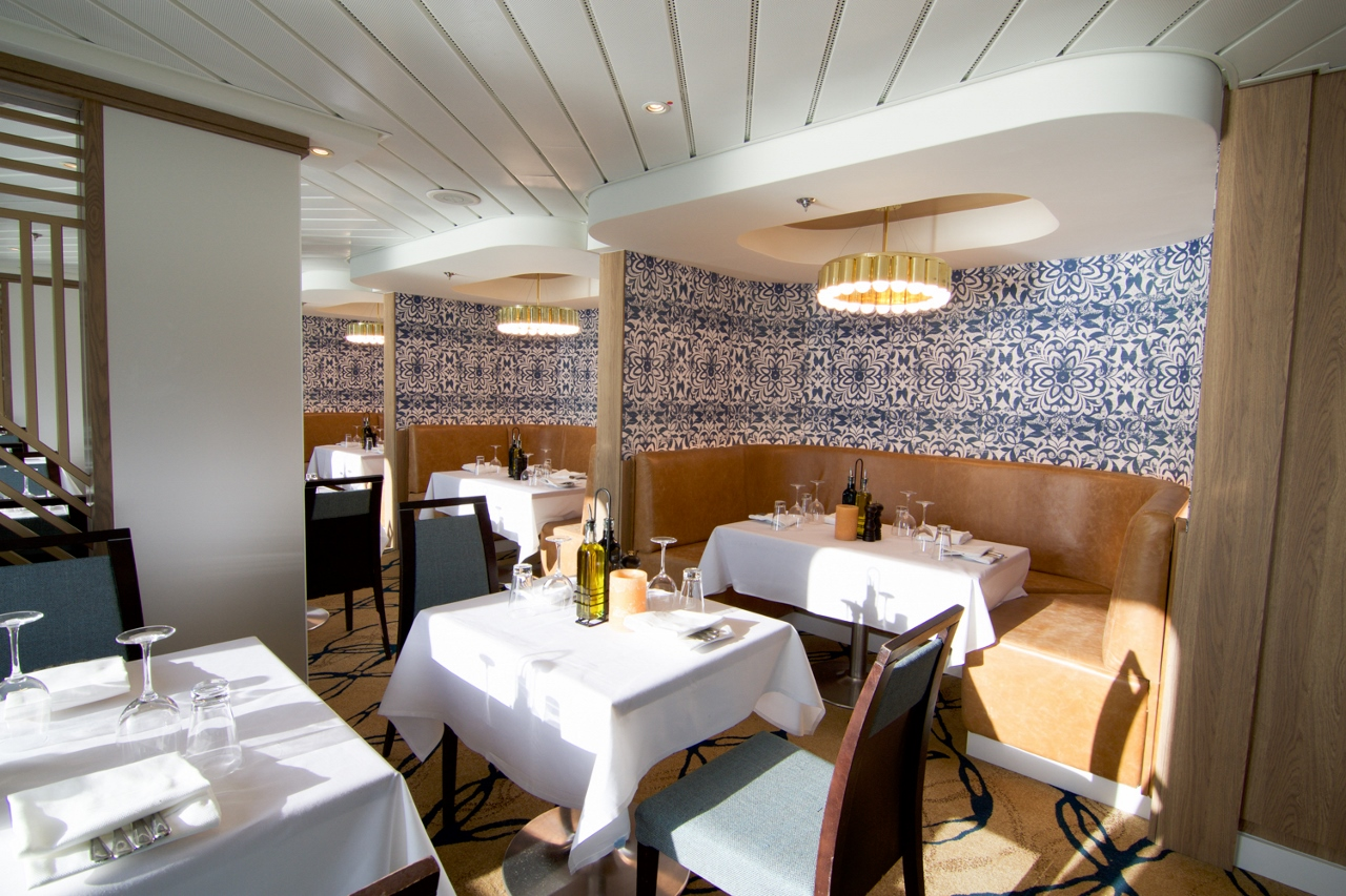 More than 100 diners at a time can enjoy La Cucina on Pride of America.