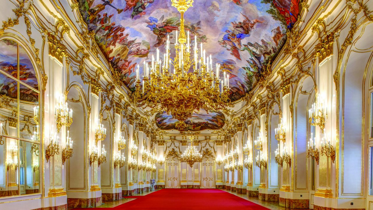 Strauss and Mozart classics are performed for APT guests at City Palace, Vienna.