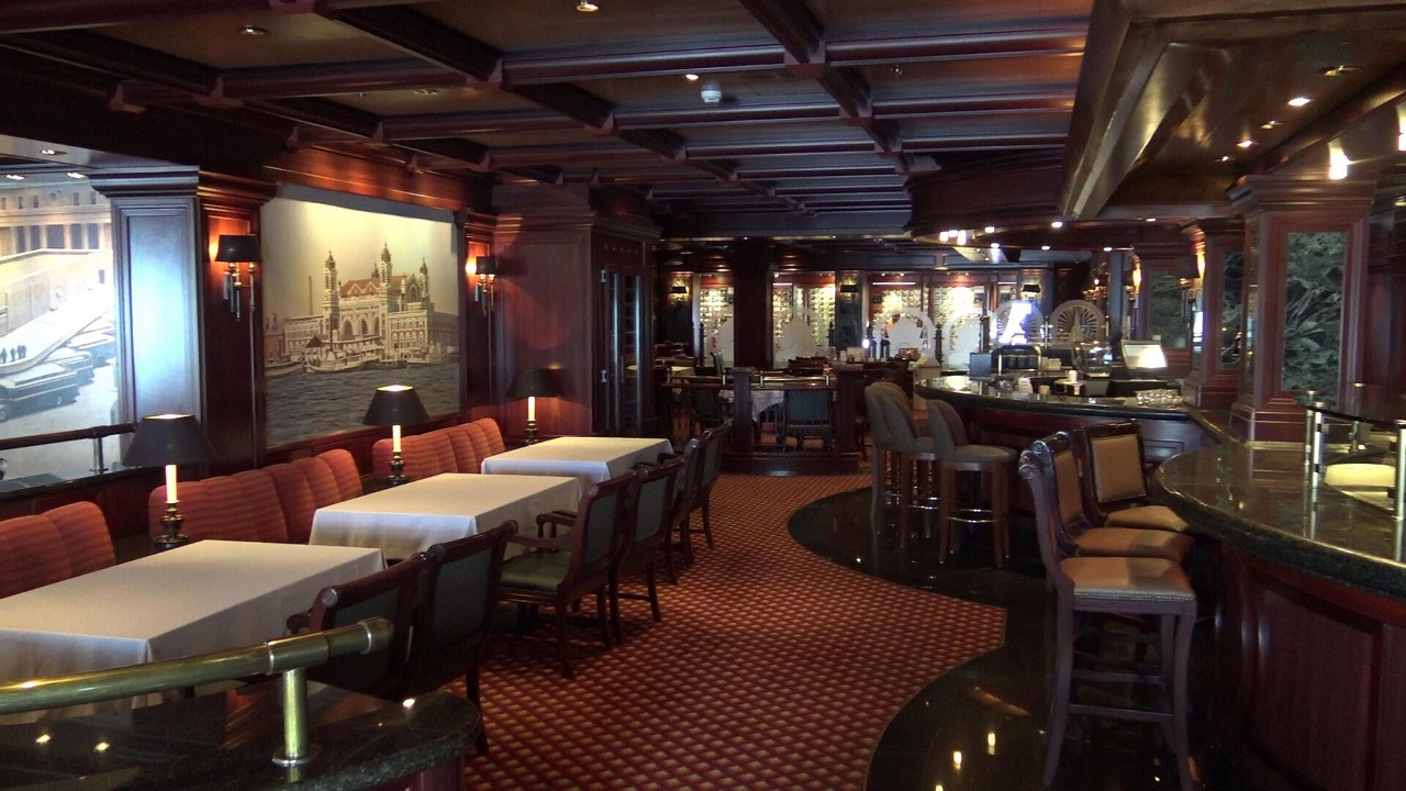 Steak and seafood is cooked to order in Emerald Princess Crown Grill.