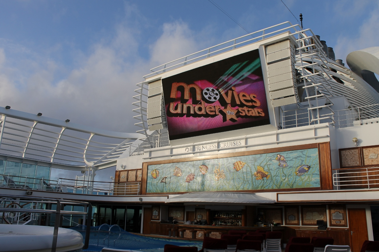 Emerald Princess will offer Movies Under The Stars