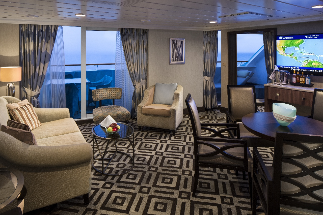 Azamara Quest offers a new-look Club Owner's Suite.
