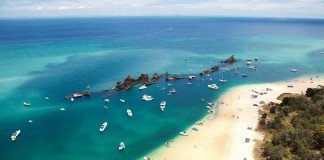 Moreton Island often plays host to cruisers aboard 4-night sailings of P&O Australia's ships.