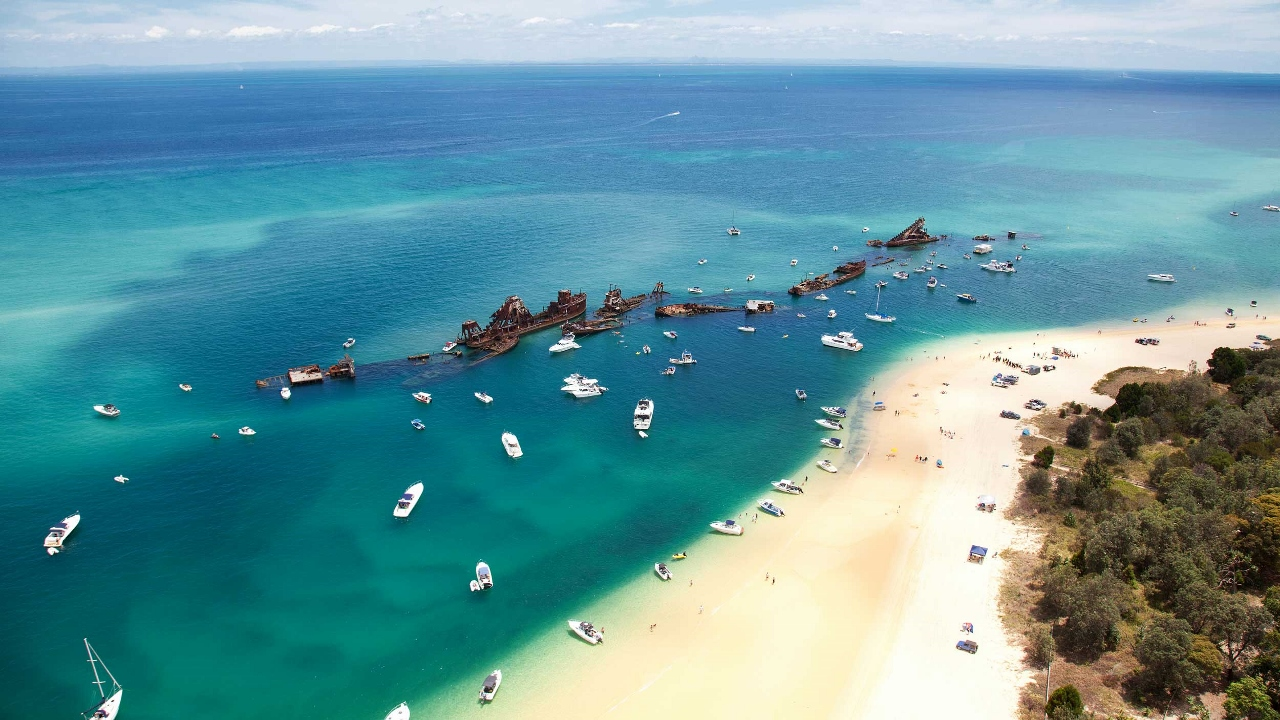 Moreton Island often plays host to four-night sailings across a variety of cruise lines.