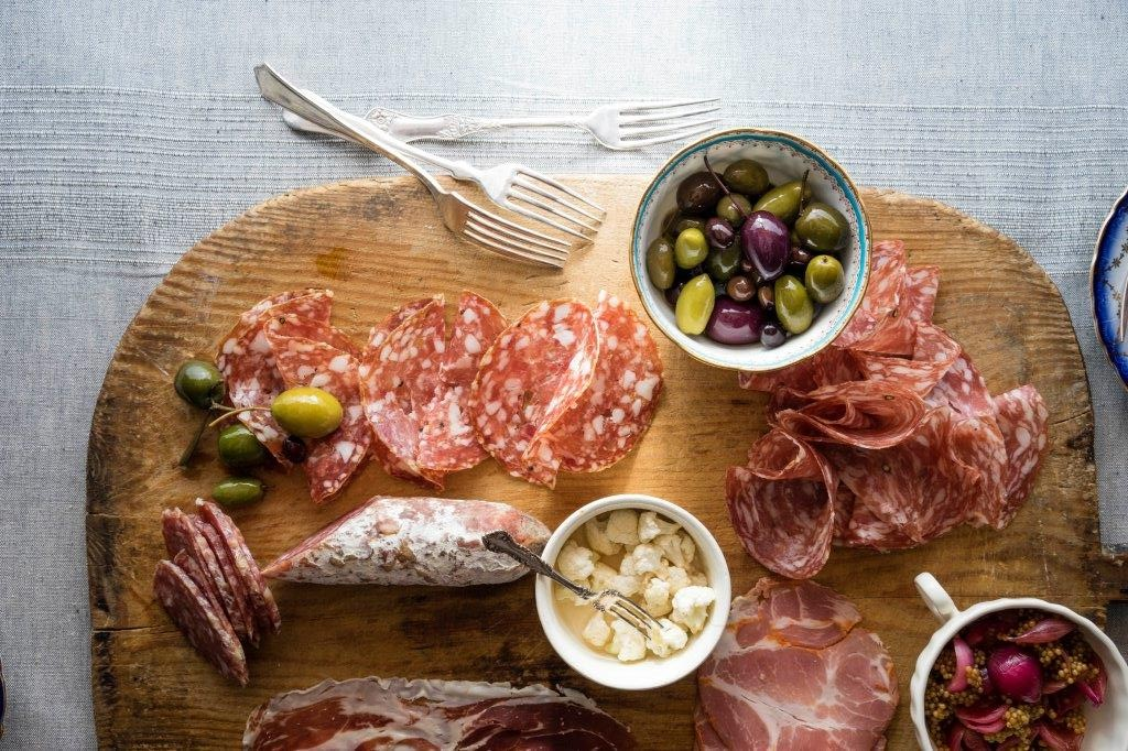 Charcuterie meats are served up at SHARE by Curtis Stone on Sun Princess.