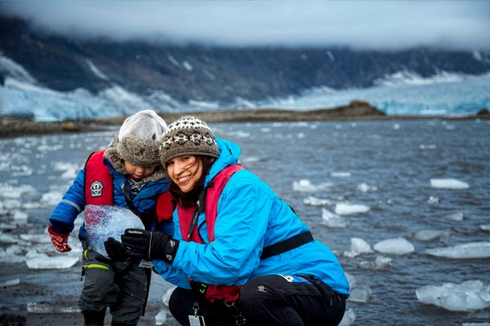 Kids can learn about the Poles on a Hurtigruten expedition.
