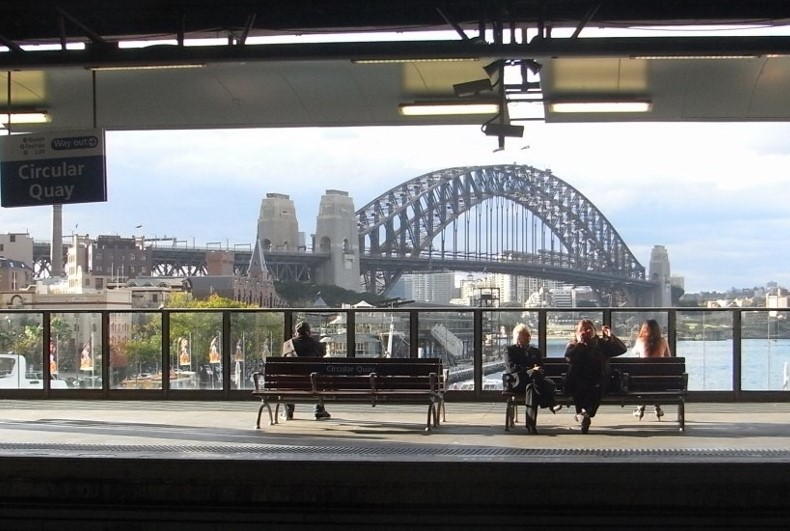 Circular Quay Railway Station is very close to the Overseas Passenger Terminal.
