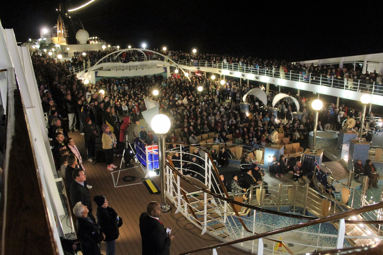 Anzac Day Centenary was marked with Dawn Service on MSC Orchestra.