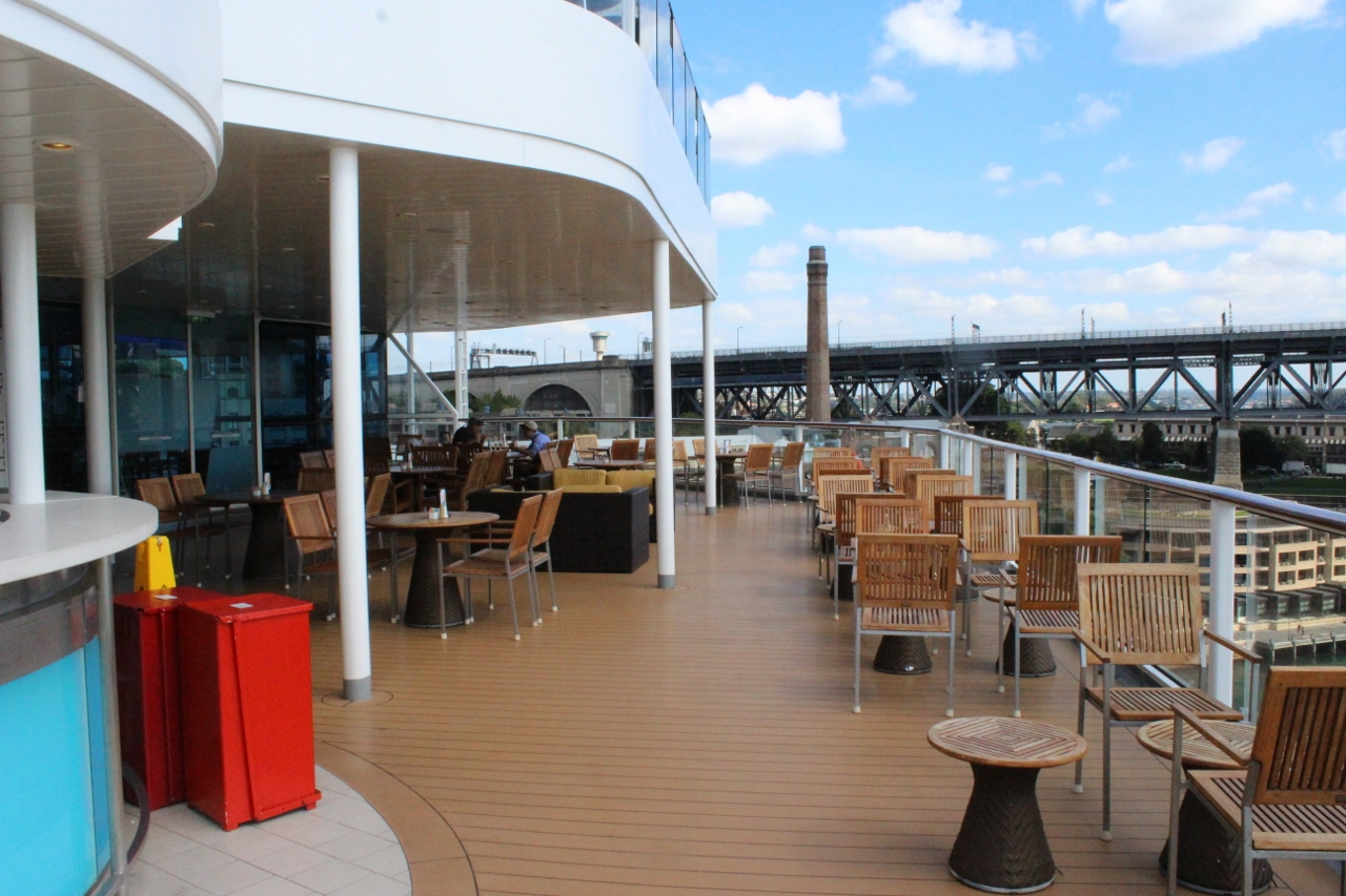 Celebrity Cruises has limited places open for smoking cigarettes.