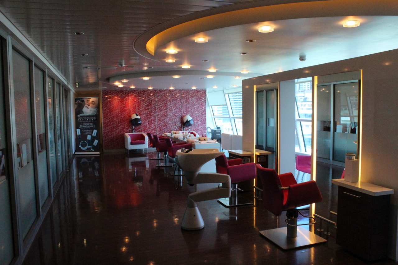 Cruise ship hair salons come in various shapes and sizes, with some offering a view of the ocean as you go.
