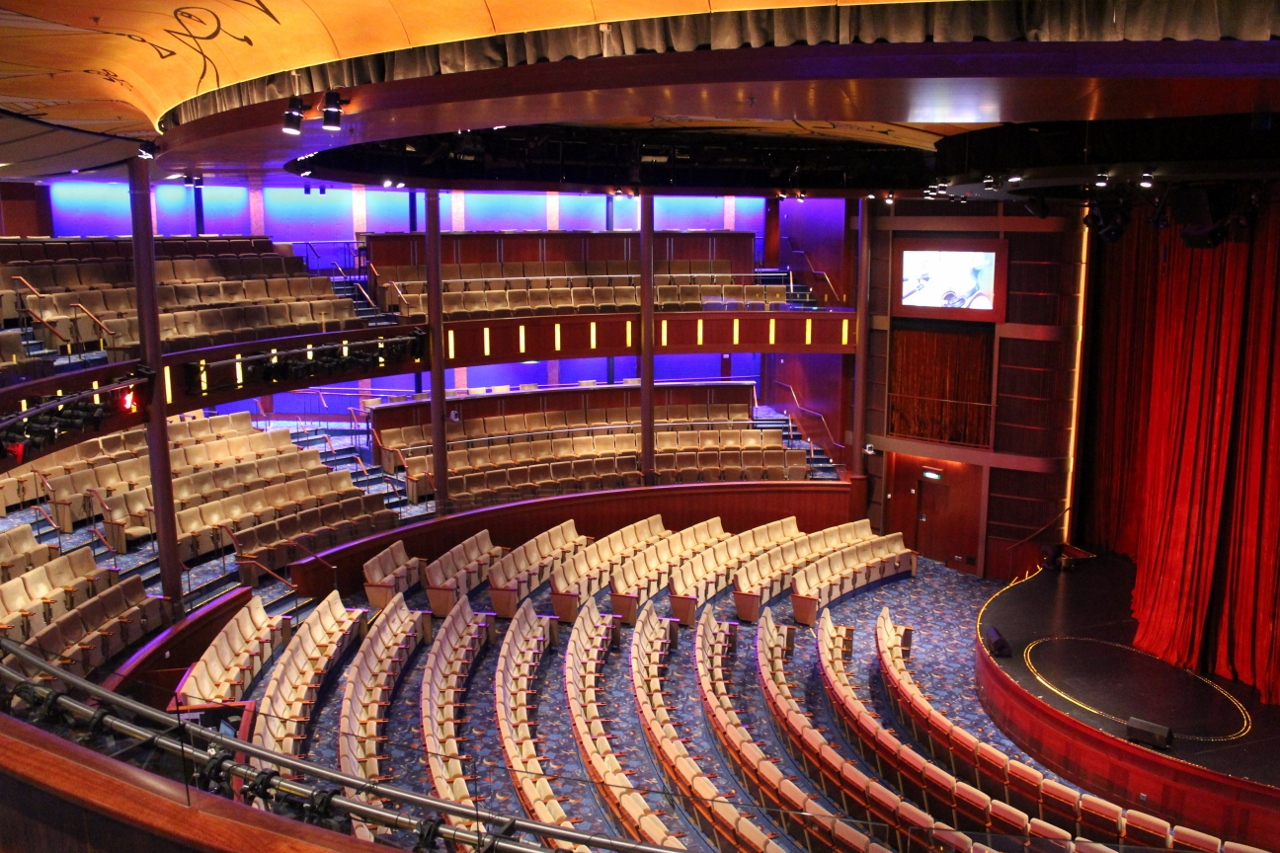 The main Solstice theatre on Celebrity Solstice.