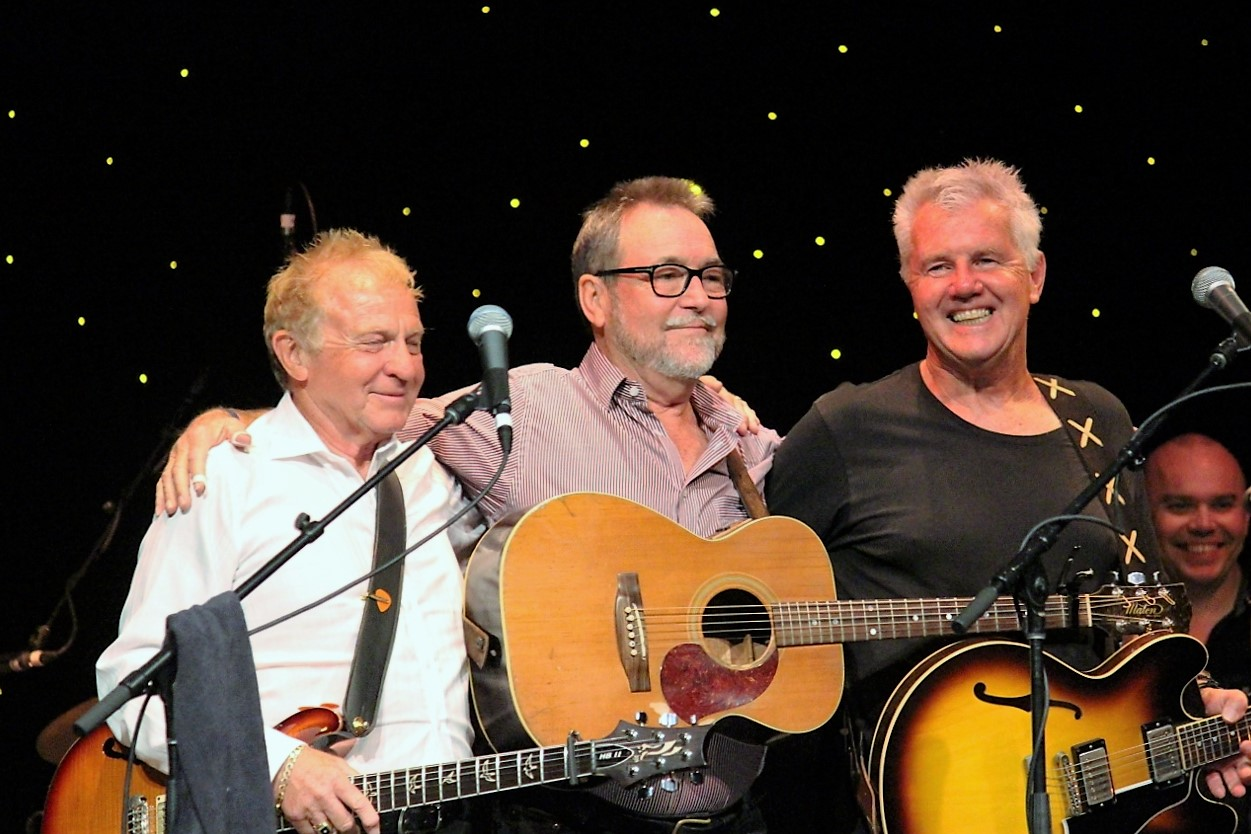 Normie Rowe, John Williamson and Daryl Braithwaite performed on MSC Orchestra for Anzac Day.