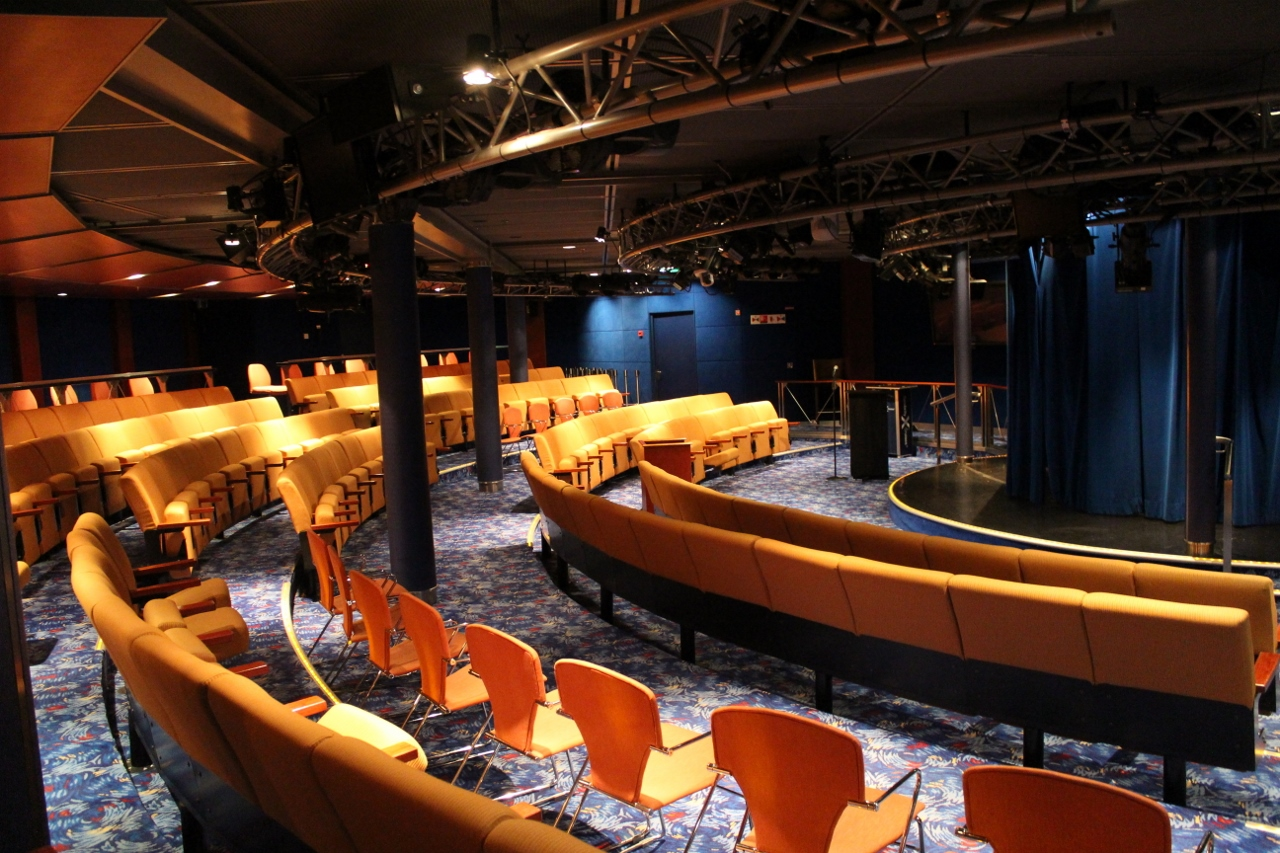 Cooking demonstrations and lectures on Celebrity Solstice take place in Celebrity Central.