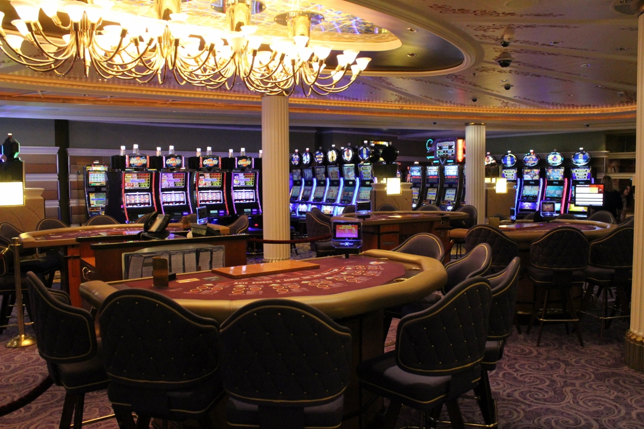 The casino onboard Celebrity Solstice.