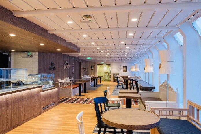 New look for The Panorama Cafe aboard Hurtigruten's Kong Harald