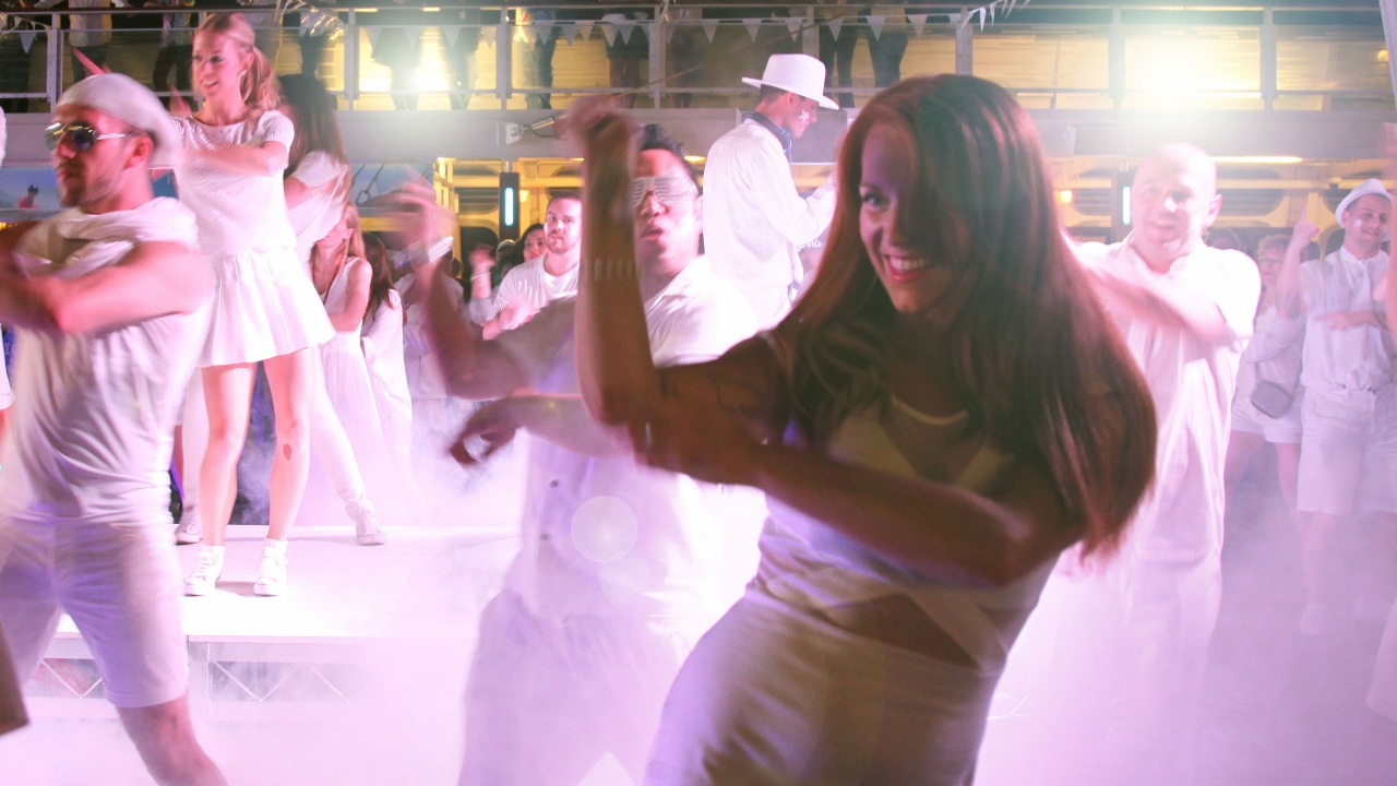 The Bianco White Party features on P&O Cruises.