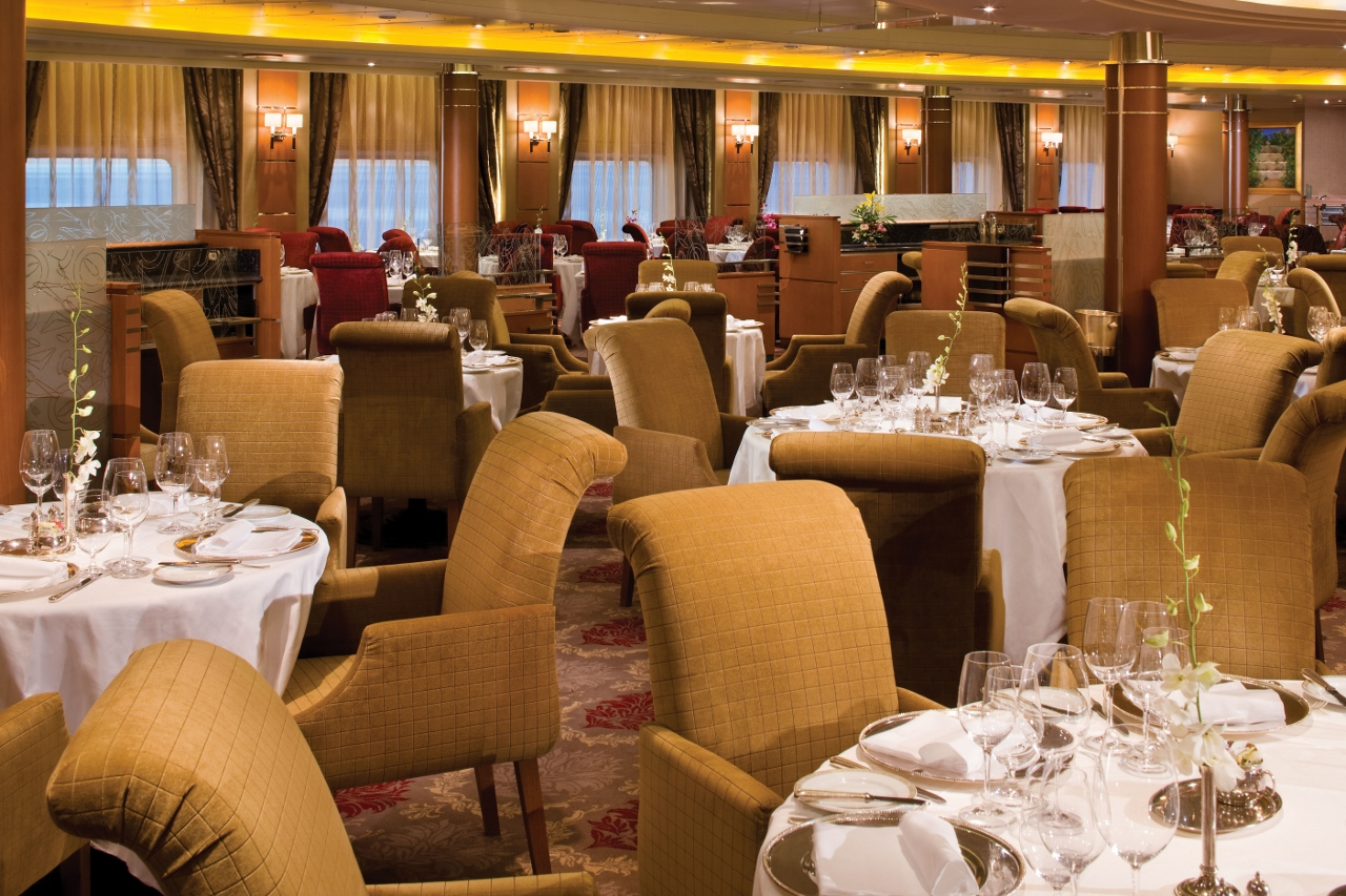 Compass Rose Restaurant on Seven Seas Voyager - which will be sailing in Australian waters in early 2017.