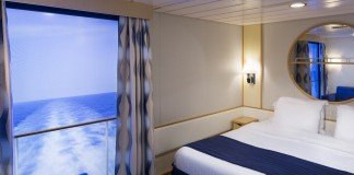 Inside Stateroom with Virtual Balcony on Voyager of the Seas.
