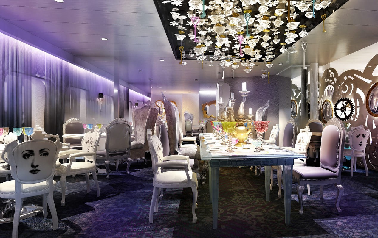 Ovation of the Seas will feature the Wonderland restaurant.