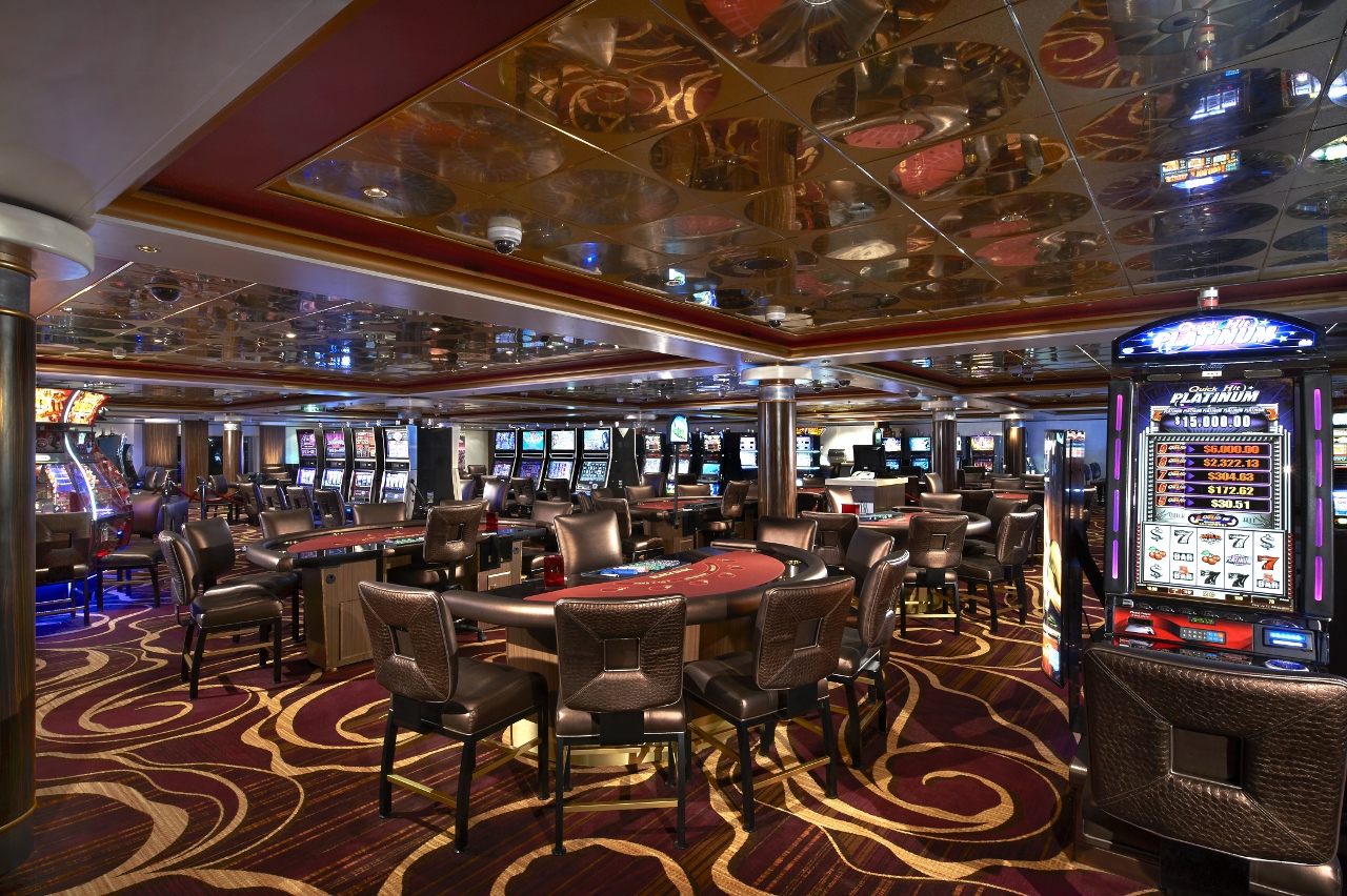 The casino is always the midpoint on any ship to ensure the games run accurately and fairly.