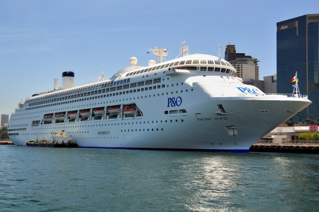 P&O Cruises' Pacific Jewel docked in Sydney.