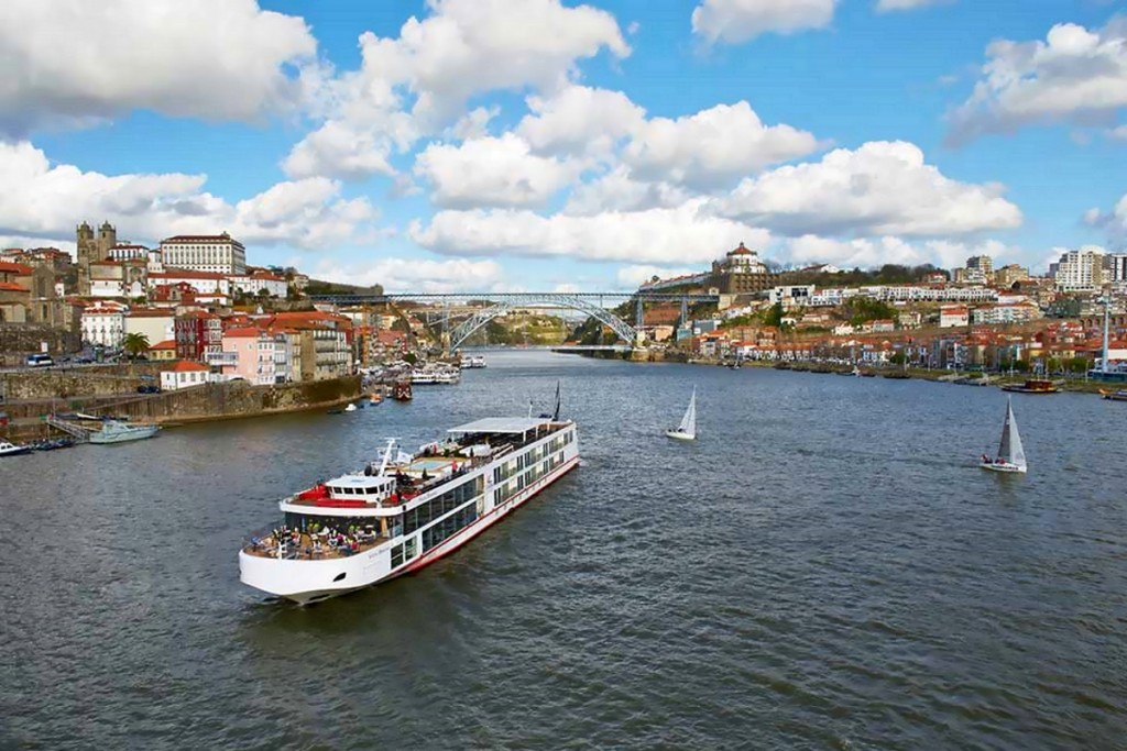 The Viking Torgil sails the Douro in Portugal for Viking River Cruises.