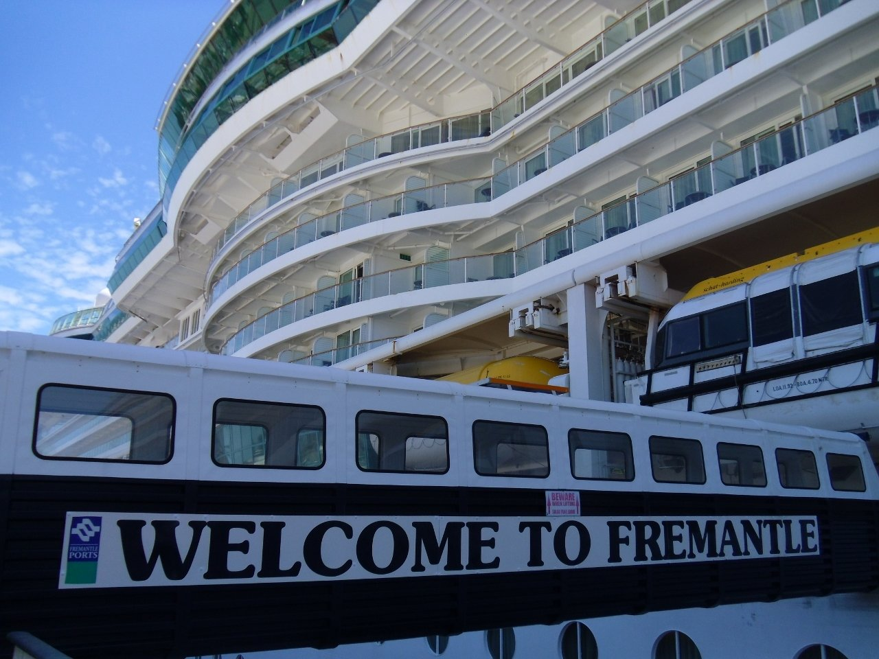 Royal Caribbean's Radiance of the Seas pays occasional visits to Fremantle.