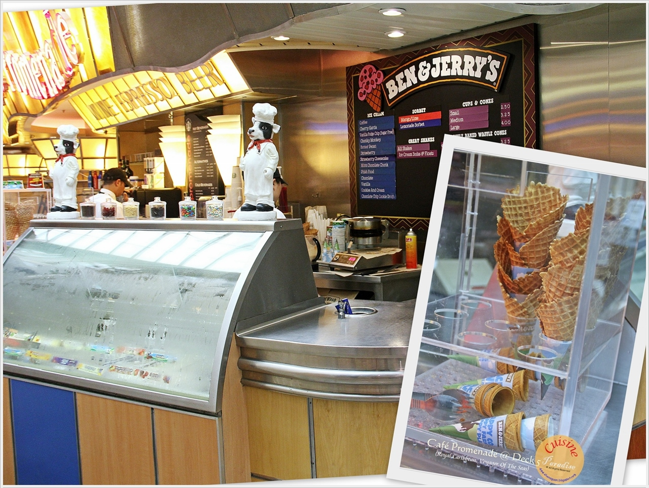 Grab some ice-cream at Ben & Jerry's on Voyager of the Seas.