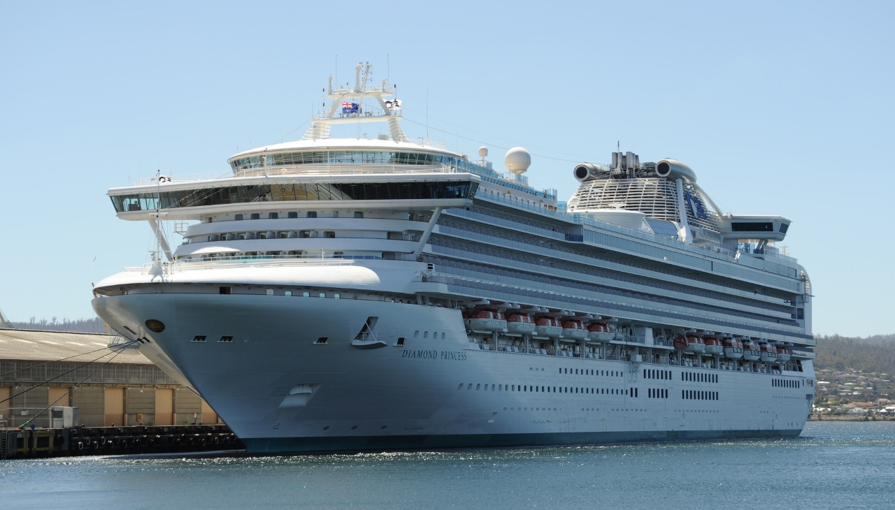 Diamond Princess sailed into Hobart.