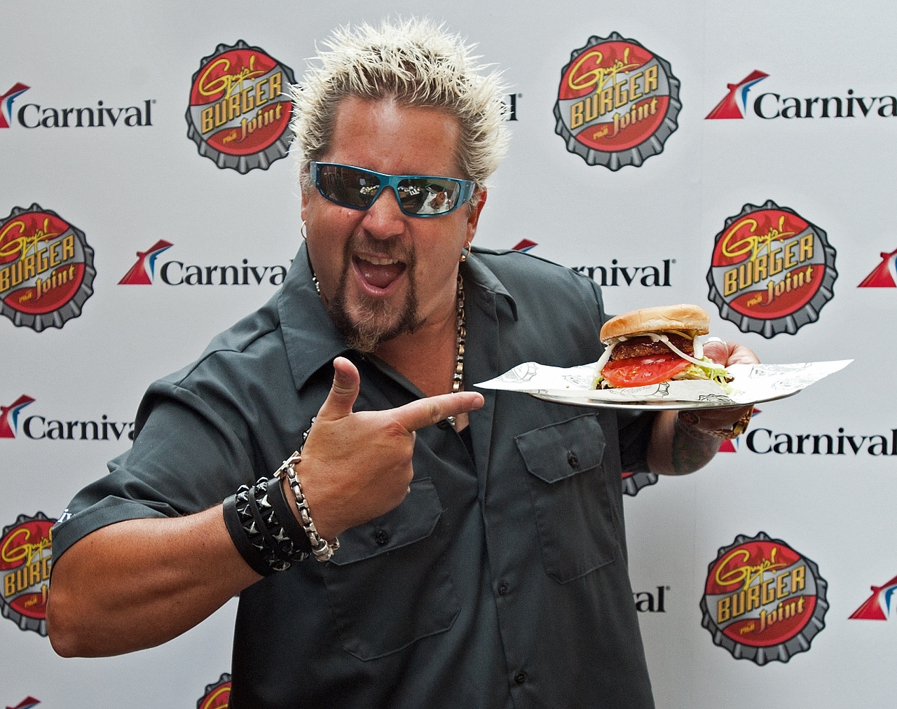 Guy Fieri is the man behind Guy's Burger Joint on Carnival Spirit.