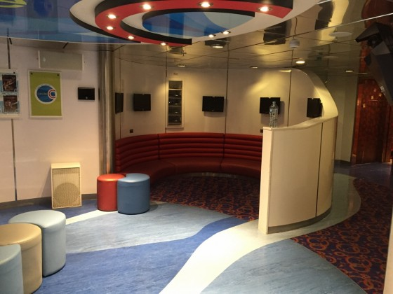 Carnival's Circle C Teens Club is perfectly set up for young adults keen to socialise with others their age.