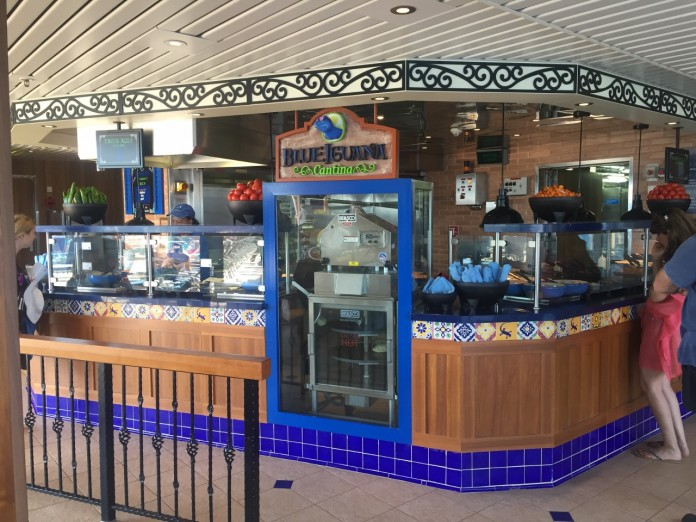 Carnival Spirit and Carnival Legend serves Mexican food at BlueIguana Mexican Cantina.