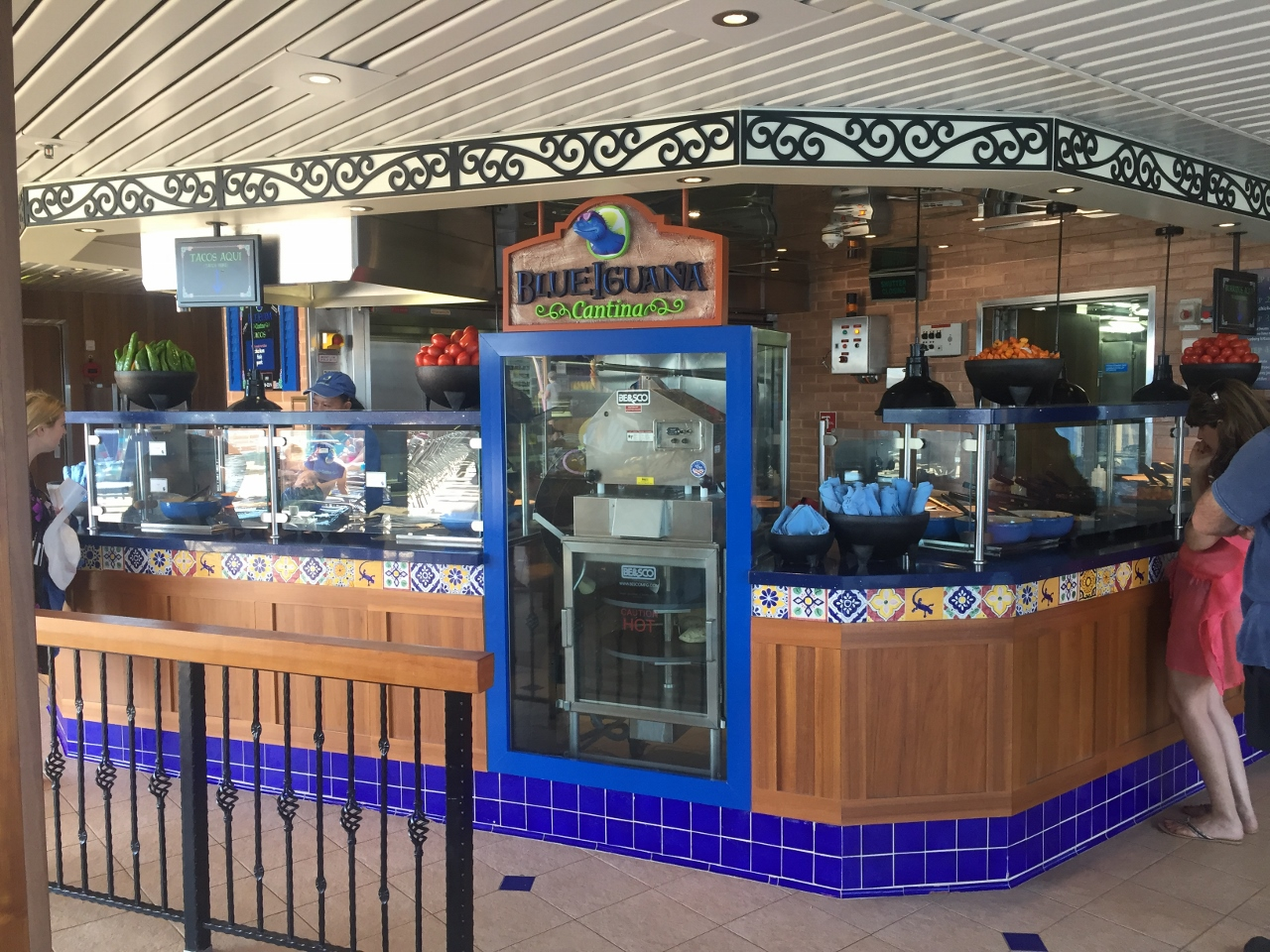 Carnival Spirit serves Mexican food at BlueIguana Mexican Cantina.