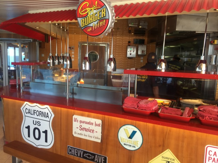 Carnival Spirit features Guy's Burger Joint.
