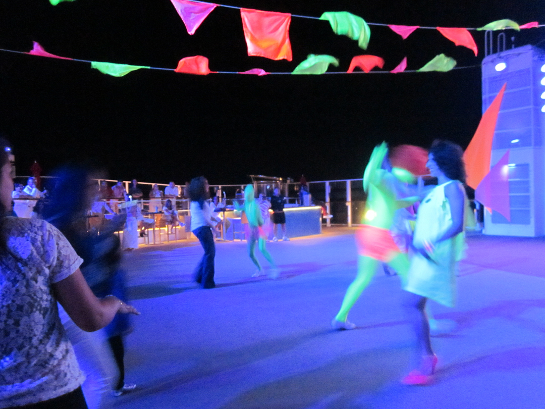 Bring your fluoro gear on NCL for the Glow Party.