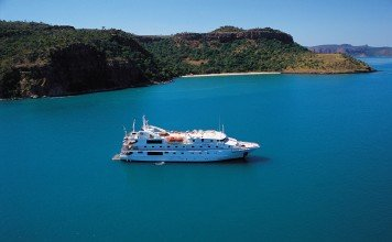 Many ships of different sizes can be found in the Kimberley.