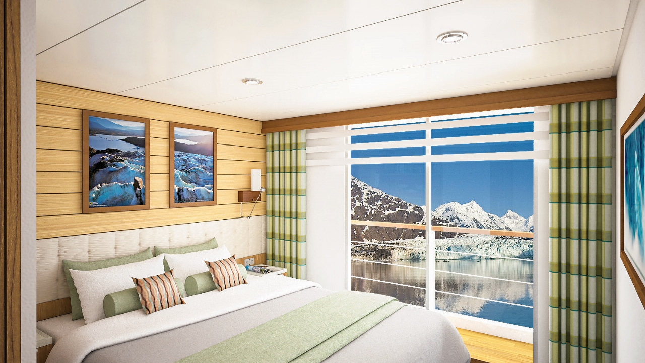 National Geographic Quest will feature balcony cabins.