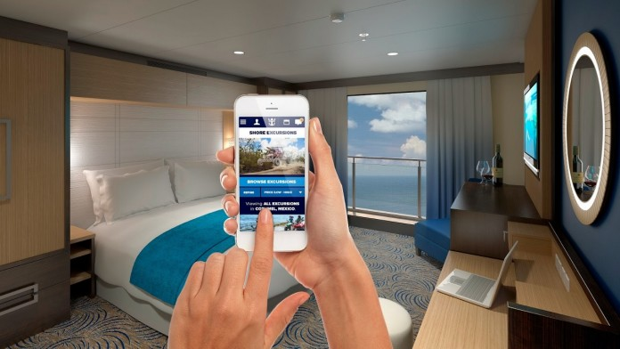 The new app from P&O Cruises allows guests to stay in touch even while in the middle of the ocean.