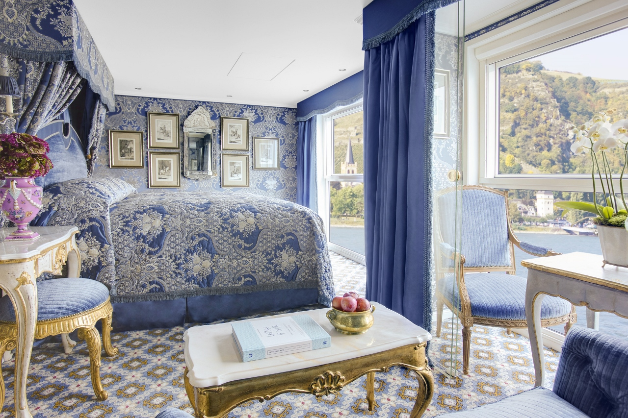 SS Maria Theresa Suite highlights the European influences in the design of Uniworld's river vessels.