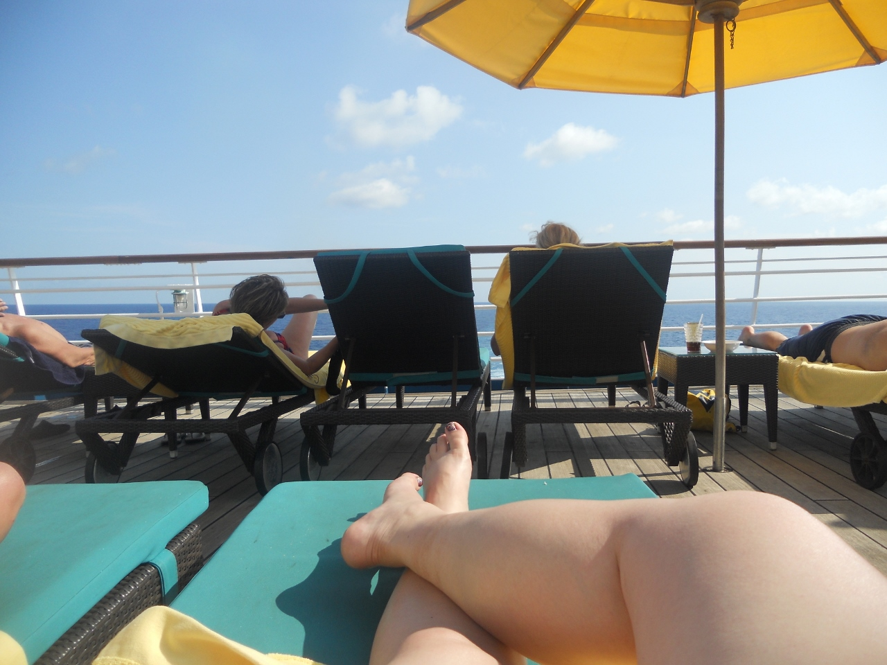 It's easy to see a day quickly slip away from the comfort of a cruise ship deck chair.