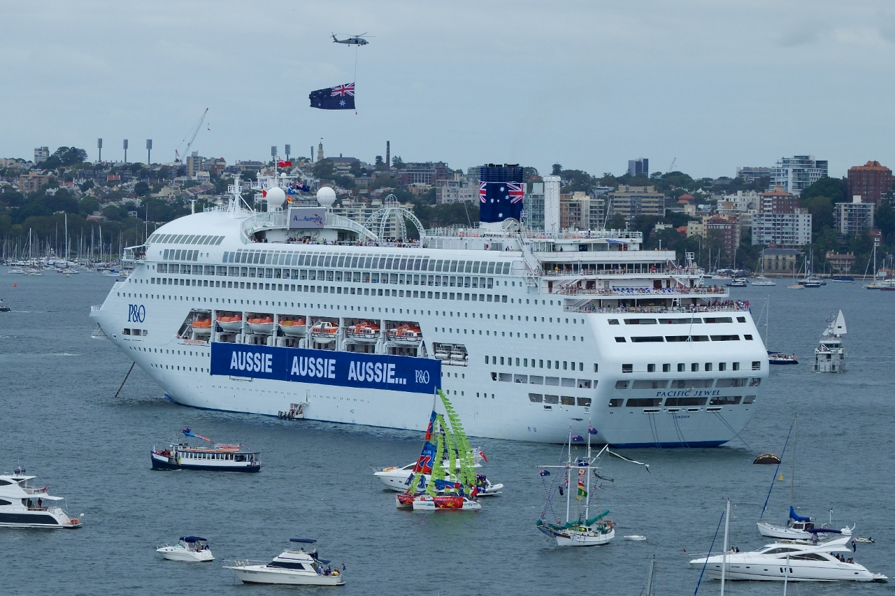 Australia Day is a hive of activity on Sydney Harbour, which guests on Pacific Jewel enjoyed up close.